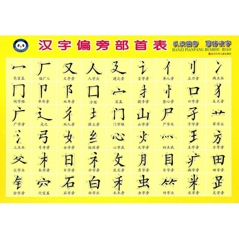 漢字偏旁部首表 喵小卡 低幼啟蒙 少兒 四川少年兒童出版社