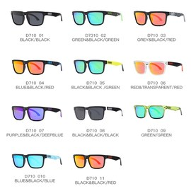 多彩反光墨镜太阳眼镜 Sunglasses Women men Reflective Glasses图片