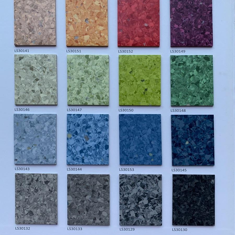 丽圣环保健康地胶PVC塑胶地板防潮防霉易洁抗菌卷材同透