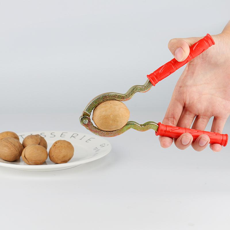 多功能优质山核桃夹子金属坚果碎裂器剥核桃器工具坚果钳子剥壳器