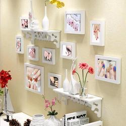 ㊙️简约美甲照片墙装饰创意个性相框墙客厅挂墙组合连体挂相片墙