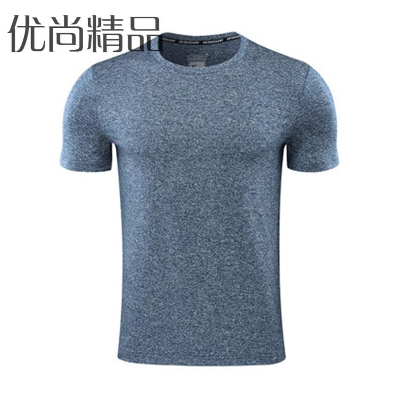 篮球短袖T恤男训练型格宽松衣健身跑步速干衣透气运动圆领弹力T恤