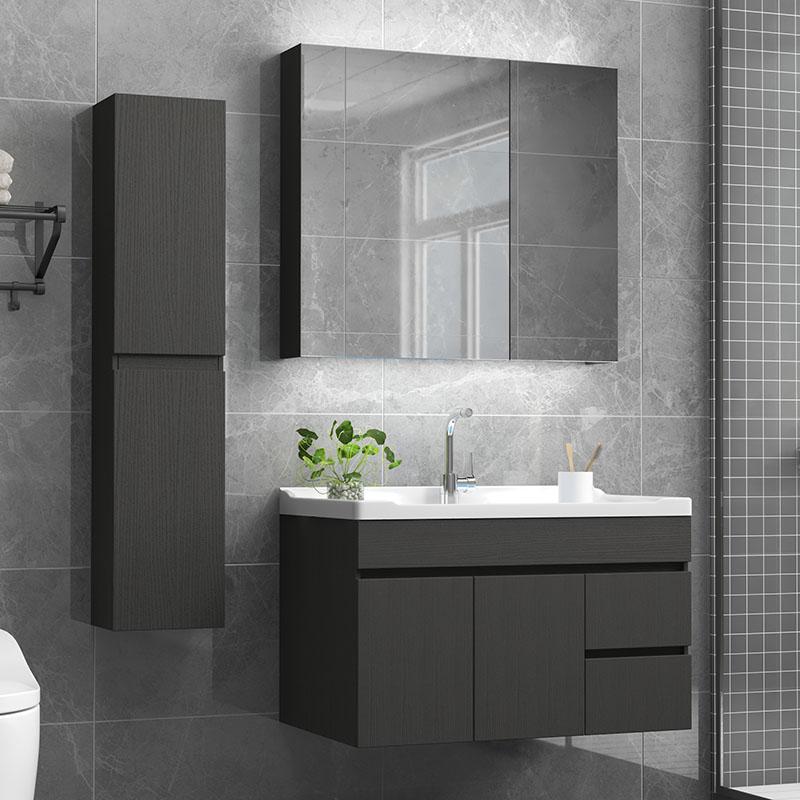 北欧浴室柜组合卫浴欧式浴室柜组合现代简约洗手洗面洗漱台卫生间