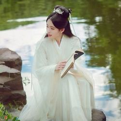 新白娘子传奇古装女汉服鞠婧祎小青抖音同款汉中国风古装写真服装