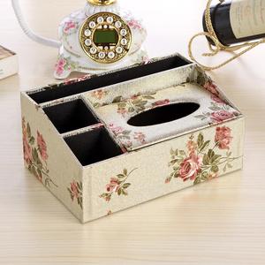 欧式多功能创意皮革纸巾盒遥控器收纳盒客厅茶几餐巾抽纸盒包邮