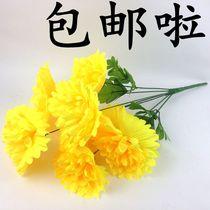 清明节仿真菊花花束上坟绢花陵园祭祀殡葬用品墓地扫墓花摆放花艺