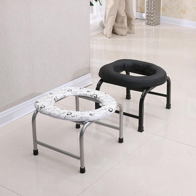 Сложить скольжение беременная женщина старики мелкий стул пожилой туалет мелкий табуретка легко сидеть туалет стул туалет большой затем туалет