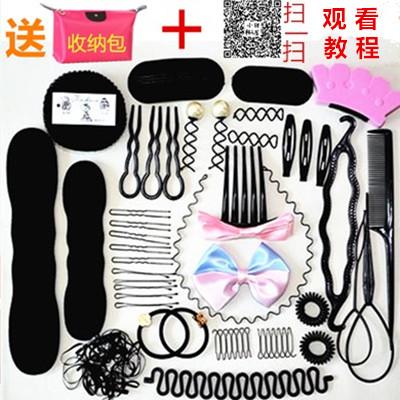 百变蓬松丸子头盘发器套装韩国发饰编发器懒人花苞头造型神器