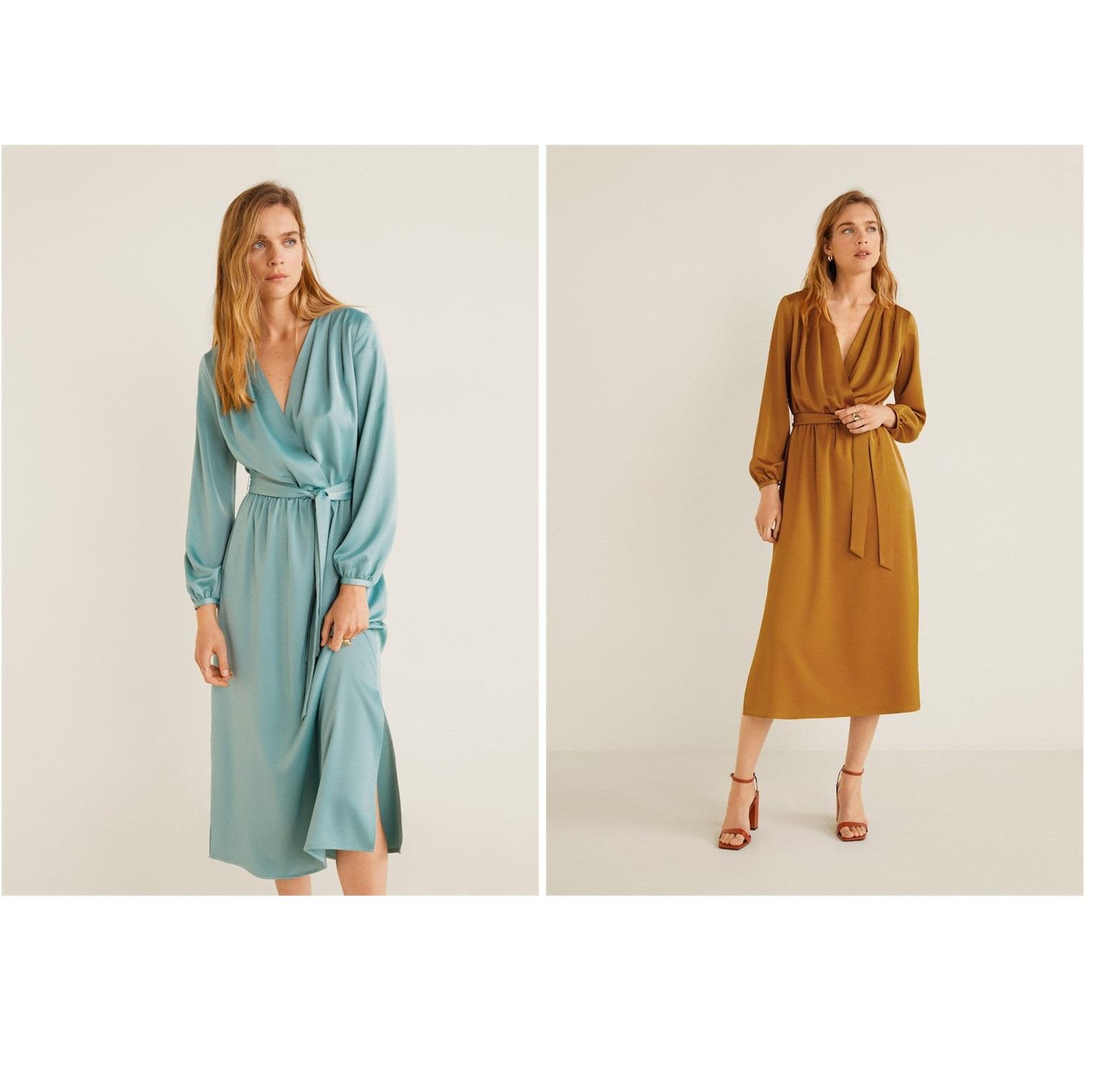 J1纯元 大范女士新款 连衣裙2019年秋款缎面 质感好满30元可用5元优惠券
