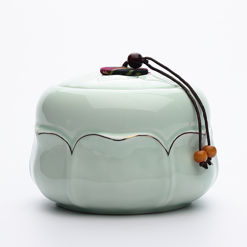 Каждый день специальное предложение керамика чайница чайный сервиз печать хранение банка большой размер фарфор устройство влагостойкий чай бак
