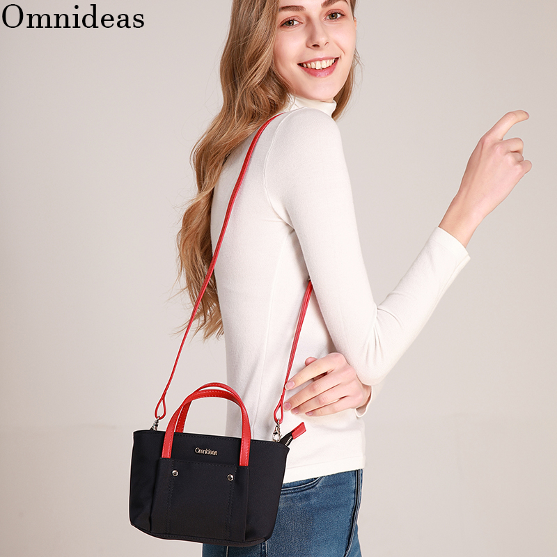 Messenger small bag 2020 new womens bag oxford nylon canvas versatile Mini Handbag age reducing mobile bag