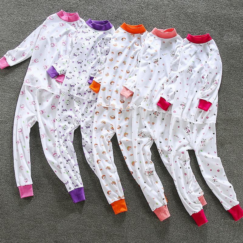 童装中大童秋衣秋裤全棉套装儿童秋季内衣纯棉女童高领小孩棉毛衫