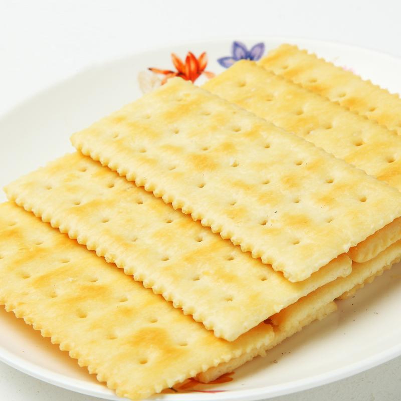 紅了蘇打發酵餅幹芝麻味香蔥味辦公室零食500g鹹味餅幹代餐食品
