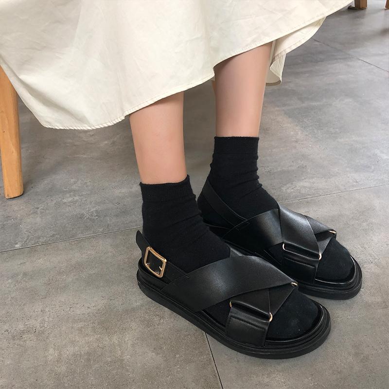 网红女夏2019新款学生百搭厚底凉鞋11月28日最新优惠