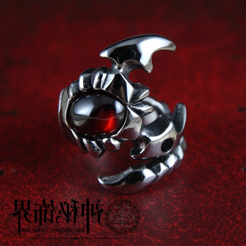 YC Ruby scorpion mens ring domineering titanium steel retro Korean personalized fashion man single ring day