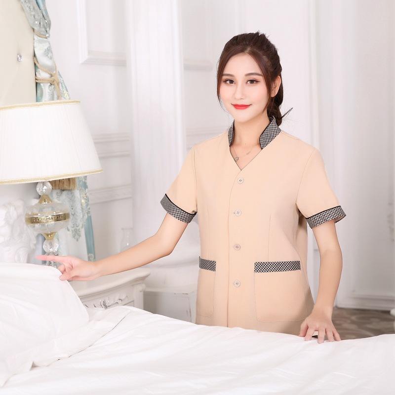 新款宾馆客房保洁员工作服短袖制服超市清洁工卫生服保健养老护工