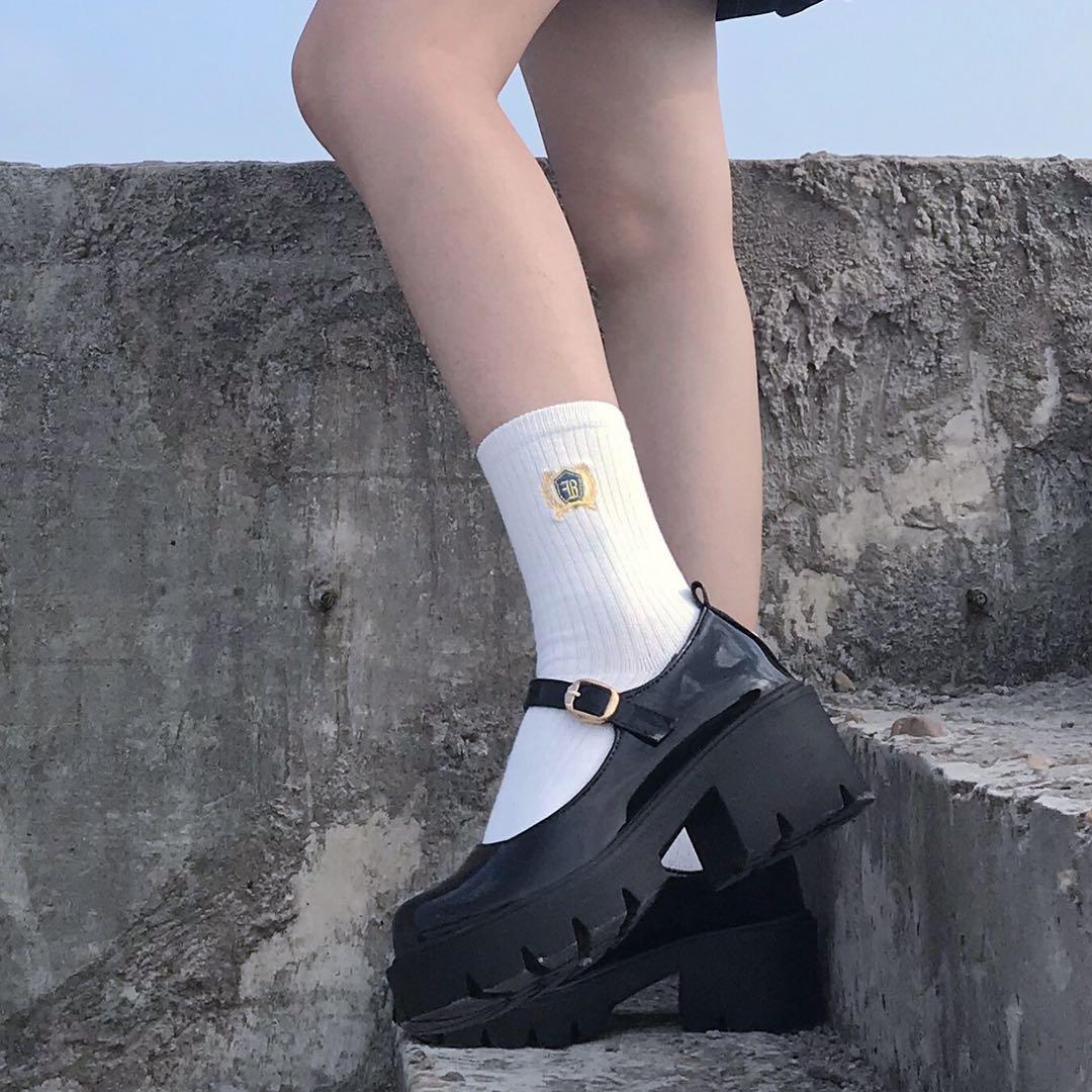 2021古德奈定制日系lolita小皮鞋女厚底jk复古学院百搭玛丽珍单鞋