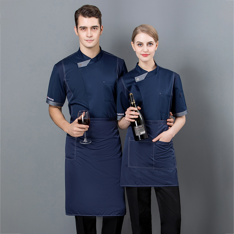 Chefs work clothes Bakers uniform snack noodle restaurant summer short sleeve master cake room tooling baking clothes