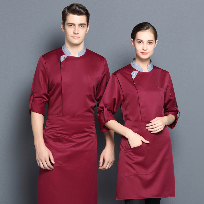 Long sleeve chefs clothing autumn and winter pastry work clothes Bakers uniform cake room tooling chefs barbecue suit