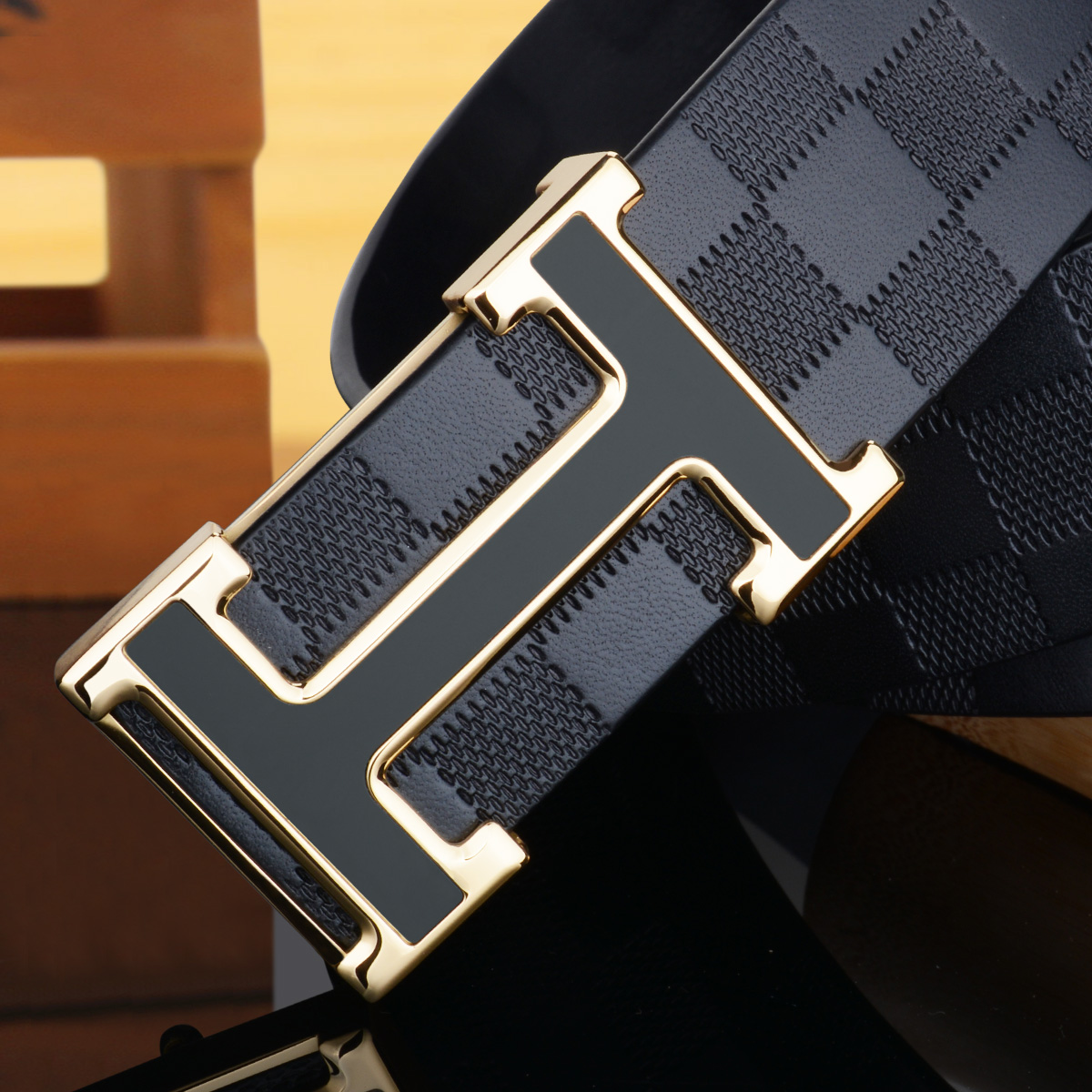 New style mens leather belt genuine leather leather leather young and middle-aged peoples leisure and versatile, smooth button and long Jeans Belt
