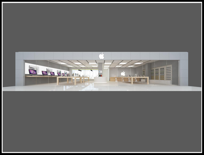 Украшение магазина магазина магазина мобильного телефона специализированный магазин Счетчик 3D-рендеринга