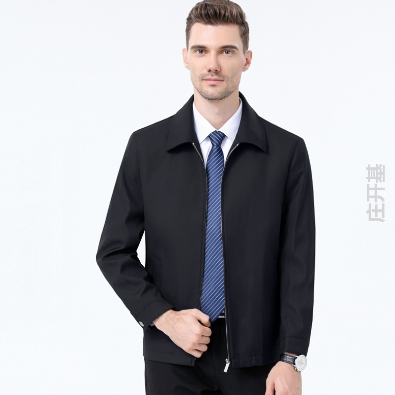 Good matching jacket for mens middle-aged spring and autumn Lapel wool coat for middle-aged and old fathers