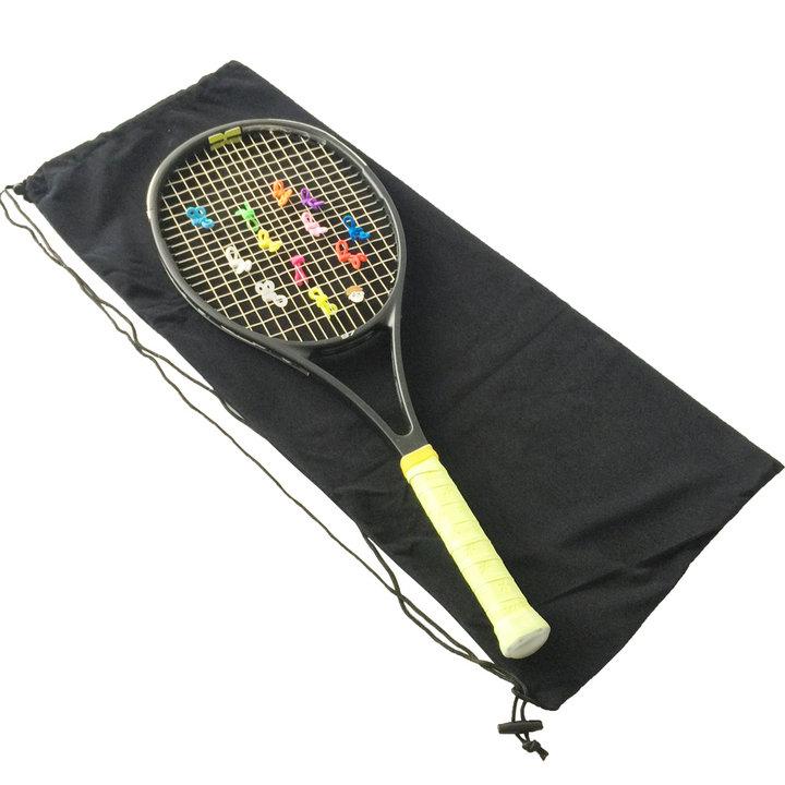 包邮羽毛球拍袋保护拍套 包装袋子便携网球拍绒布单肩束绳收纳袋