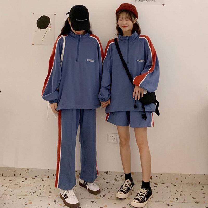 初秋2019新款上衣外套阔腿裤两件套洋气减龄裤装网红套装女气质潮