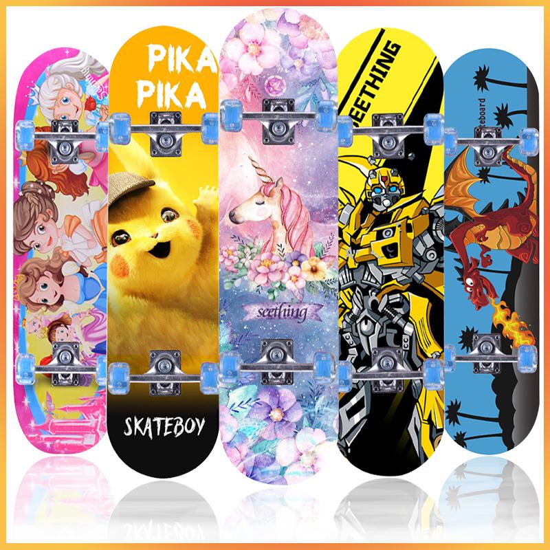 滑板初学者3-6-4-13岁女孩双翘划板