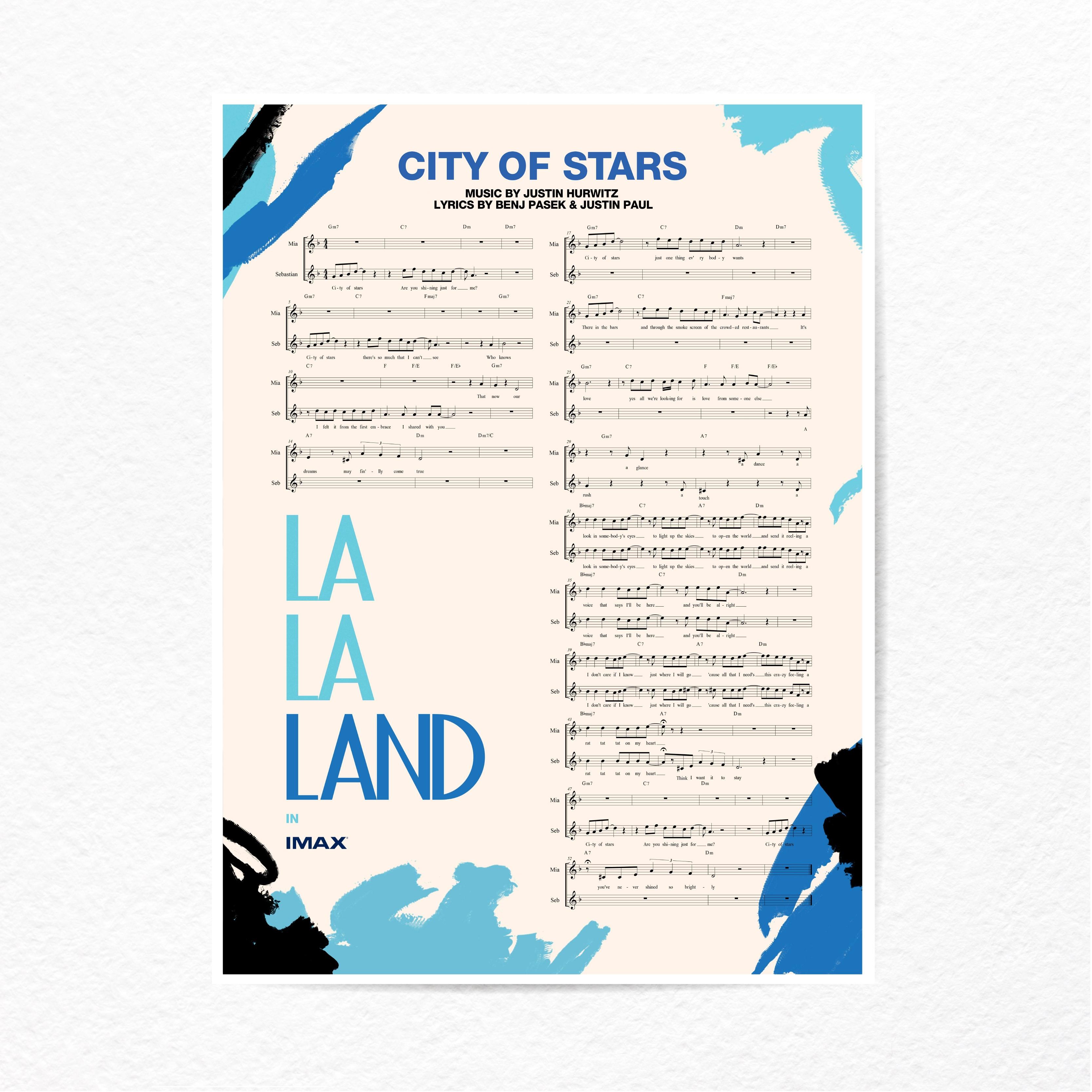 Komorebi/ 小众文艺电影lalaland爱乐之城cityofstars乐谱海报