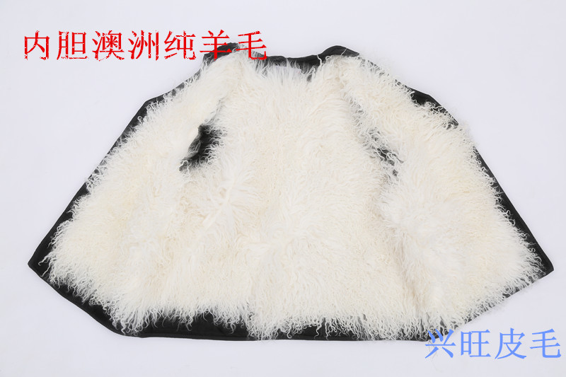 Middle aged and old peoples warm and thickened waistcoat with wool and genuine leather in winter