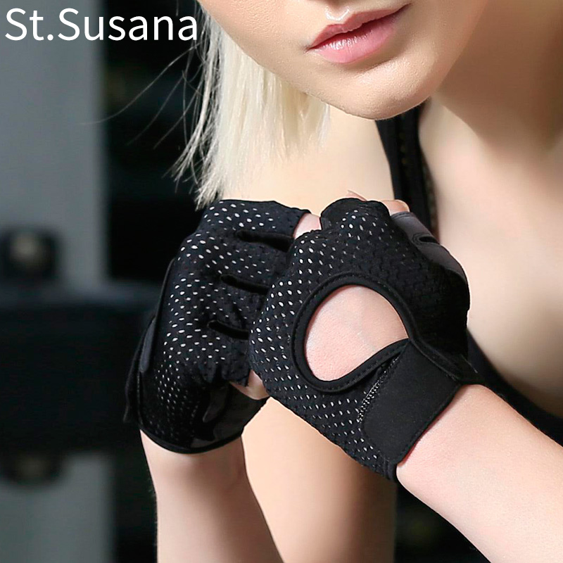 Fitness Gloves womens Yoga equipment training cycling non slip, wear-resistant and breathable Half Finger thin grasping sports gloves
