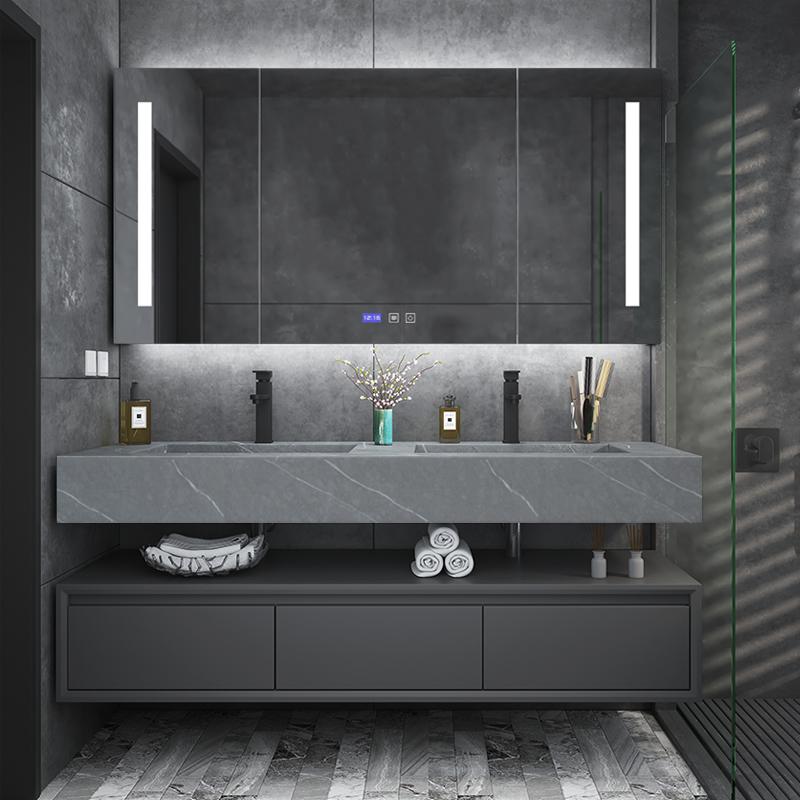 卫浴柜套装双盆浴室柜组合现代简约