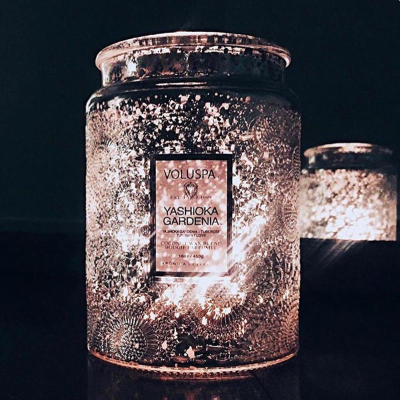薰衣草助眠香薰无烟精油蜡烛宜家睡眠香氛大浮雕香薰蜡烛Voluspa