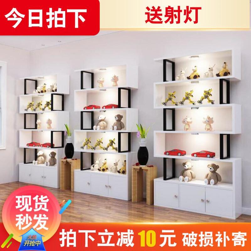 产品展示柜化妆品展示架包包饰品陈列柜美甲店展柜储物隔断柜货架