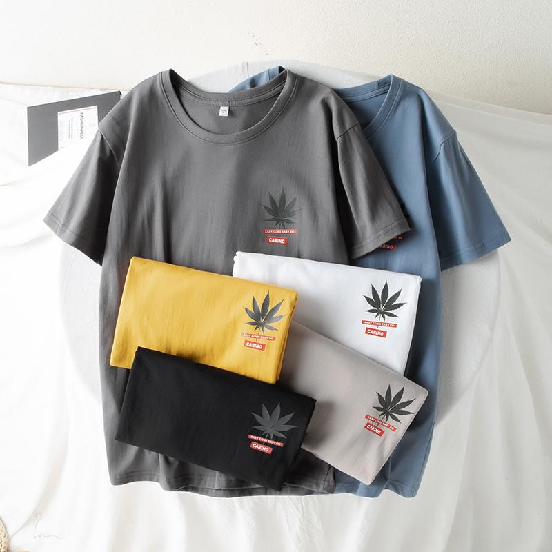 2020年新款日系潮流男T恤男士百搭T恤韩版男短袖青春流行小清新
