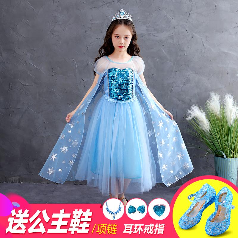 夏季冰雪奇缘正版儿童女童夏公主裙
