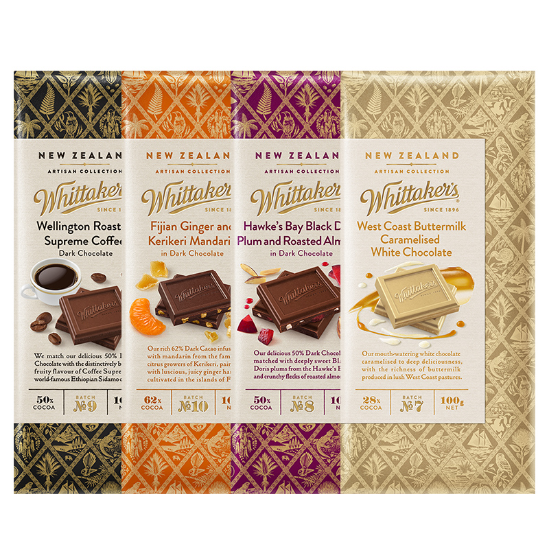 New Zealand Whittakers / Whitakers imported ingenuity chocolate, various flavors, optional 100g row