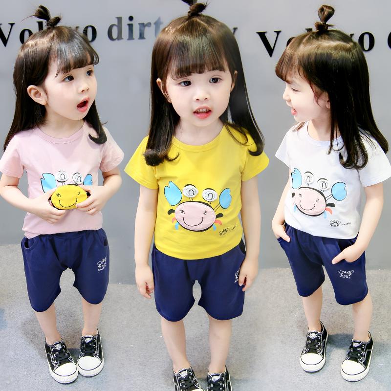 两岁女宝宝夏装套装1纯棉小童洋气婴儿衣服3韩版公主两件套潮时髦