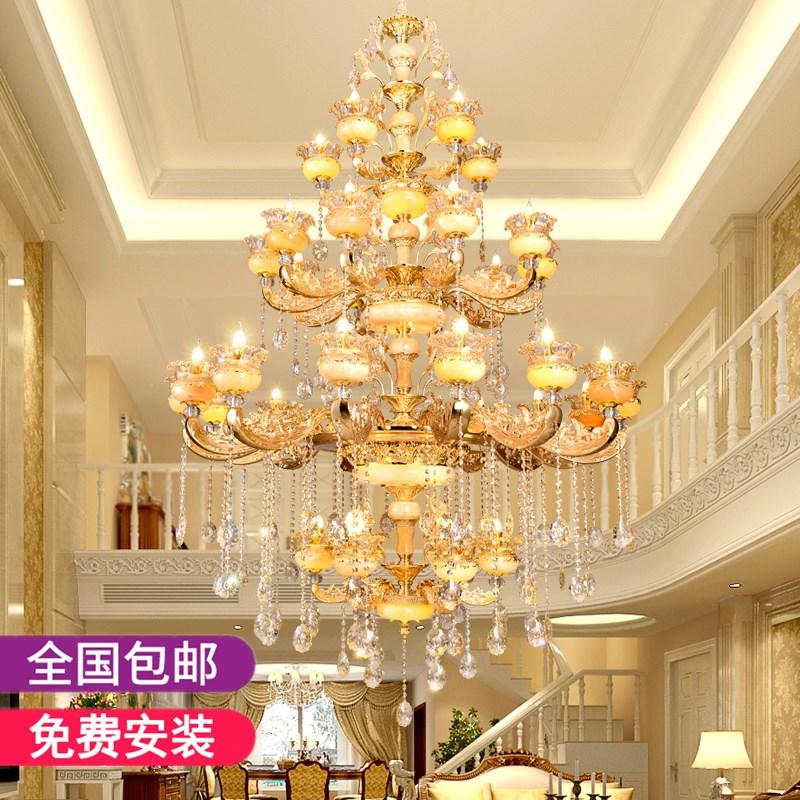 胡桃里餐吧绿植物吊灯美式个性酒馆餐厅挑空楼梯长型实木装饰灯具-美琪现代艺术照明