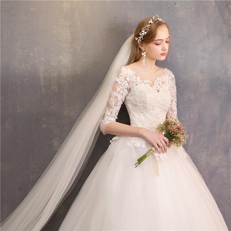 韩版拖尾婚纱
