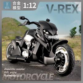 雅马哈暴龙机甲1:12哈雷摩托车模型摆件合金声光仿真儿童男孩玩具