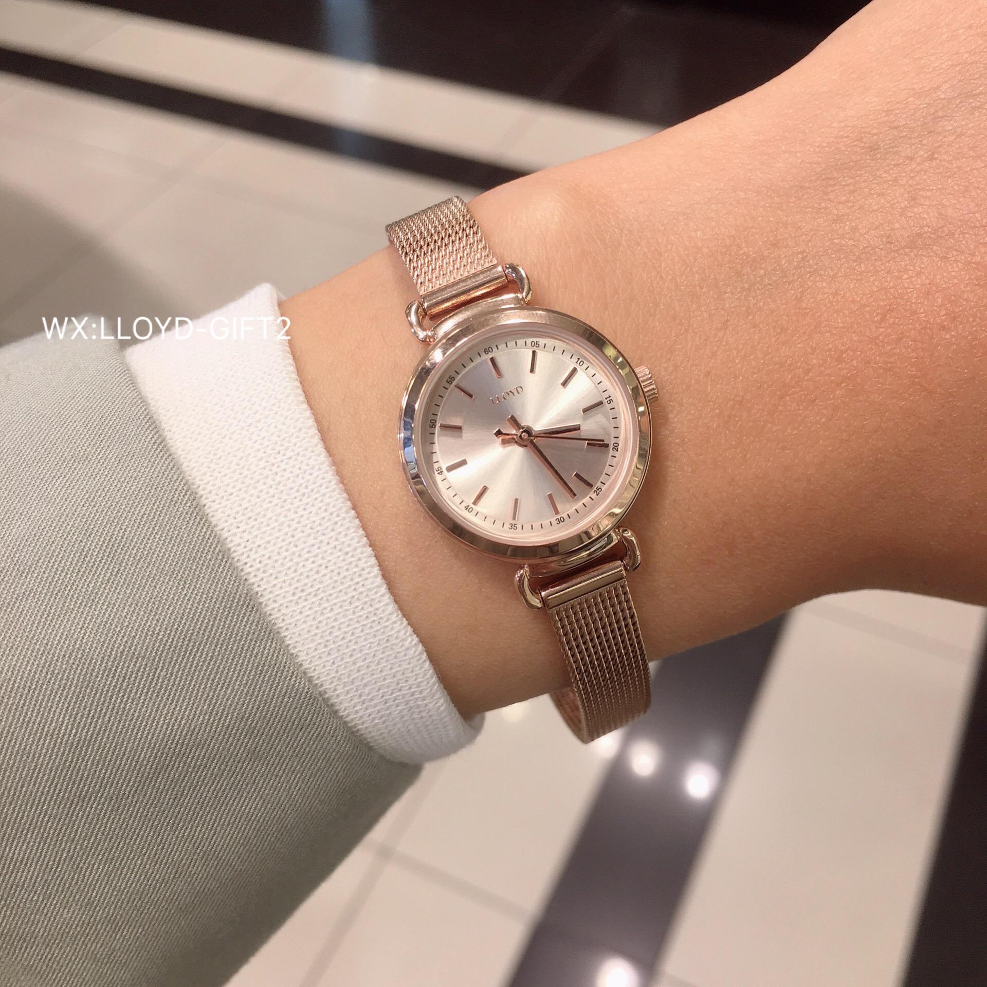 LLOYD韩国专柜代购 韩式简洁数字线条刻度小巧学生女石英手表包邮