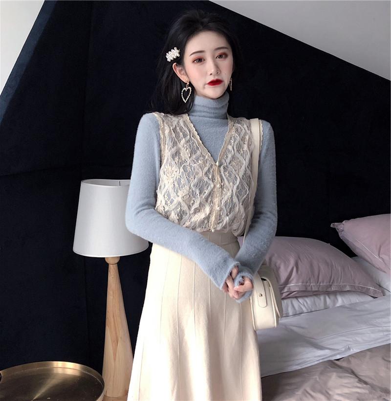 维多利亚法式复古很仙的两件套秋冬法国小众山本风超仙过膝连衣裙
