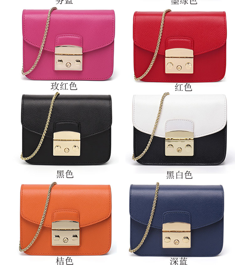 Chain small square bag womens 2019 new versatile cross body small bag single shoulder womens bag chain bag cowhide Mini straddle bag