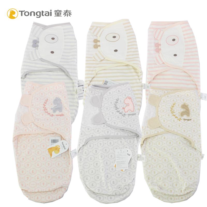 童泰新生儿0-2个月防惊跳宝宝睡袋