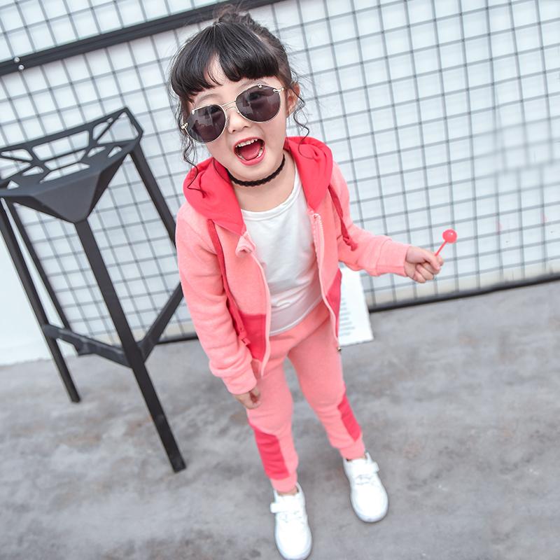 童装女童春装套装2018新款3岁儿童衣服5岁4岁女宝宝运动服两件套