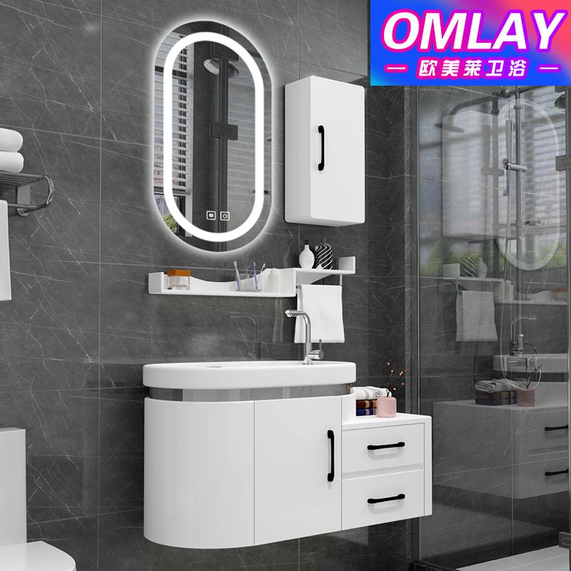 卫浴欧式PVC浴室柜组合小洗漱台洗脸盆洗手盆洗面盆池台盆卫生间
