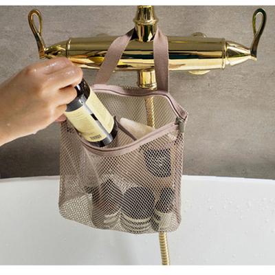 Hollow handbag zipper storage bag new product drain fiber mesh travel makeup wash bag multi-function hand carry