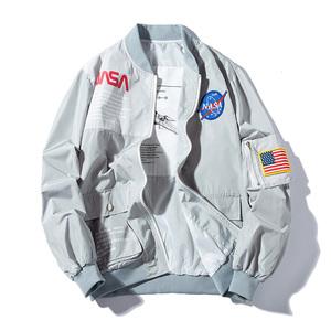 秋冬NASA联名宇航员外套飞行员夹克男女情侣潮牌宽松加厚棒球棉服
